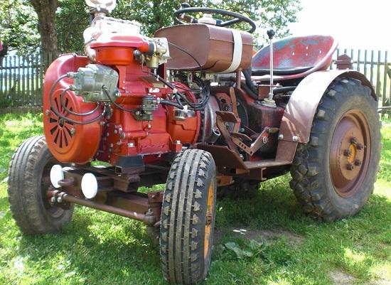 самодельный трактор из мотоблока