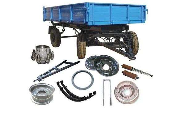 Запасные части тракторного прицепа